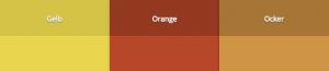 Gelb, Orange, Ocker