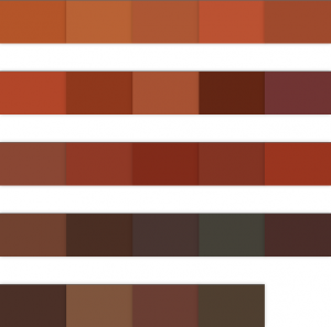 Rot, Braun
