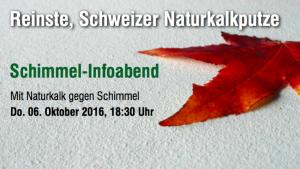 Mit Naturkalk gegen Schimmel Infoabend HAGA Naturkalk